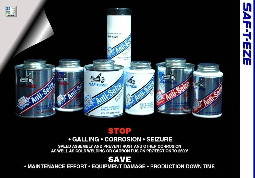 SAF-T-EZE Anti-Seize and Lubricants Product Line